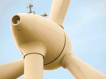 Parte del mulino a vento in cielo blu Fotografie Stock