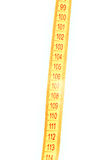Parte del nastro di misurazione Fotografia Stock