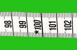 Parte del nastro di misurazione. Immagine Stock