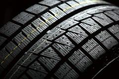 Parte del neumático a estrenar del coche. Fotos de archivo