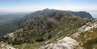 Parte del nord delle montagne di Biokovo Fotografia Stock