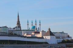Parte del noroeste de Kazán el Kremlin, Tartaristán, Rusia imagen de archivo