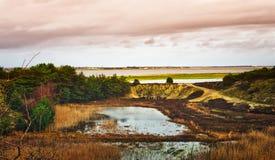 Parte del norte del mar de Wadden Fotos de archivo