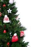 Parte del ornamento adornado del árbol de navidad Imagenes de archivo