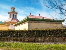 Parte del pabellón histórico en Alexander Park en Pushkin Fotos de archivo