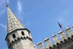 Parte del palazzo di Topkapi (Topkapii Sarayi). Istabul, Turchia fotografia stock libera da diritti