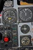 Parte del panel de control para los aviones de combate fotografía de archivo libre de regalías