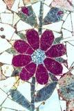 Parte del pavimento del mosaico sotto forma di fiore fotografia stock libera da diritti