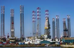 Parte del porto di Esbjerg in Danimarca Fotografia Stock