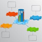 Parte del puzzle con il carico della scala. Elementi del infographics Immagine Stock