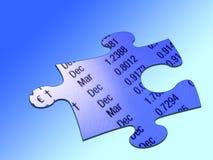 Parte del puzzle di valuta illustrazione di stock
