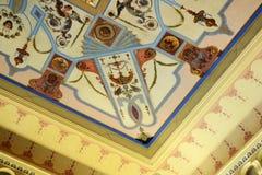Parte del soffitto di Achilleion fotografie stock libere da diritti