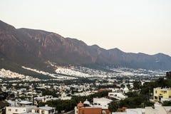 Parte del sud della città di Monterrey, Nuevo Leon, Messico Immagini Stock