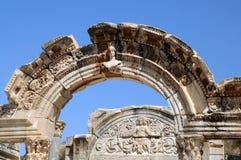 Parte del tempiale di Hadrian Fotografia Stock Libera da Diritti