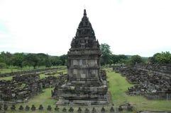 Parte del tempiale di Prambanan Fotografie Stock
