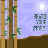 Parte del testo della scrittura la vostra storia Concetto che significa memoria di nostalgia di esperienza personale illustrazione di stock