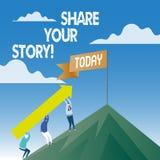 Parte del testo di scrittura di parola la vostra storia Concetto di affari per la memoria di nostalgia di esperienza personale illustrazione vettoriale