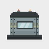 Parte del vector de la industria del equipo mecánico del engranaje del detalle del trabajo de la fabricación de la protección de  stock de ilustración