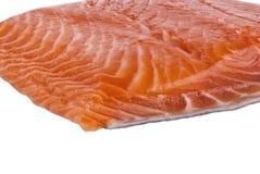 Parte deliziosa di raccordo di color salmone fresco Fotografia Stock
