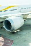 Parte dell'aereo di aria del motore con il fan dentro Fotografie Stock Libere da Diritti
