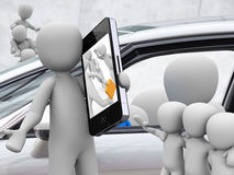 Parte dell'automobile, car sharing Fotografia Stock Libera da Diritti