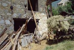 Parte dell'azienda agricola del cavolo verzotto in Francia Immagini Stock Libere da Diritti