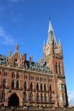 Parte dell'hotel anteriore Londra di rinascita di St Pancras Immagini Stock