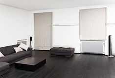 Parte dell'interiore moderno della stanza di seduta Fotografia Stock Libera da Diritti