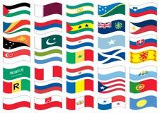 Parte della bandiera nazionale di un insieme completo Fotografia Stock