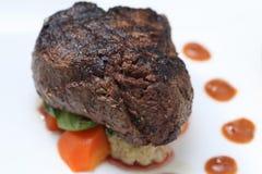 Parte della bistecca del filetto Fotografie Stock