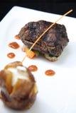 Parte della bistecca del filetto Immagini Stock Libere da Diritti