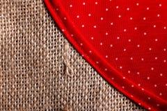 Parte della borsa di eco fatta dal sacco di iuta riciclato Fotografia Stock