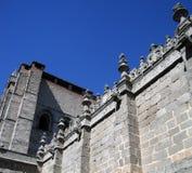 Parte della cattedrale del  vila di à e del dettaglio della parete Fotografia Stock