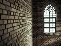 Parte della chiesa della finestra Fotografia Stock