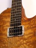 Parte della chitarra elettrica Fotografie Stock