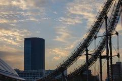 Parte della città di Laqua Tokyo Dome a Tokyo, Giappone Fotografie Stock Libere da Diritti