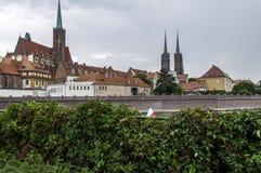 Parte della città di wroclaw Immagine Stock