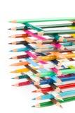 Parte della costruzione con i pastelli colorati Fotografia Stock
