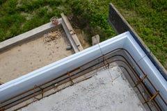 Parte della costruzione del tetto della casa fotografia stock
