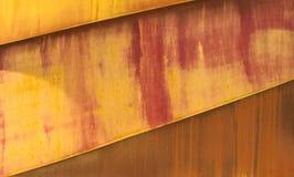 Parte della costruzione metallica, coperta di ruggine decorativa Fotografia Stock Libera da Diritti