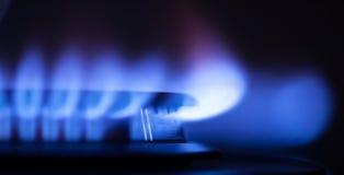Parte della fiamma del gas fotografie stock