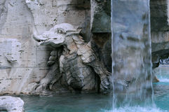 Parte della fontana dei quattro fiumi Fotografie Stock