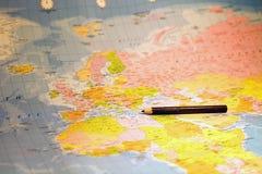 Parte della mappa di mondo Fotografia Stock Libera da Diritti