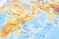 Parte della mappa di mondo Fotografie Stock