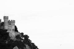 Parte della montagna del castello in spagna Catalogna Fotografia Stock Libera da Diritti