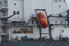 Parte della nave da carico nel mare Immagini Stock