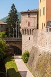 Parte della parete del castello del ` s di Umbertide Fotografia Stock