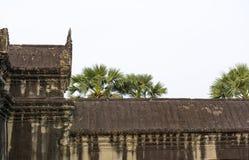 Parte della parete del tempio Angkor Wat complesso cambodia fotografia stock