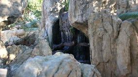 Parte della piscina naturale con acqua blu video d archivio