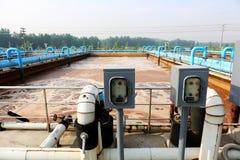 Parte della scena dell'impianto di depurazione Fotografie Stock Libere da Diritti